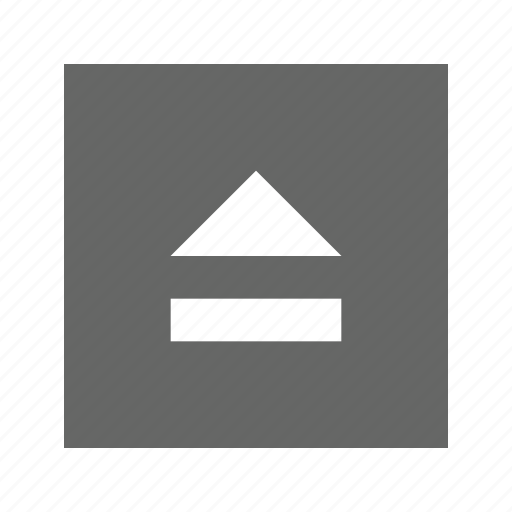 eject, solid, square icon