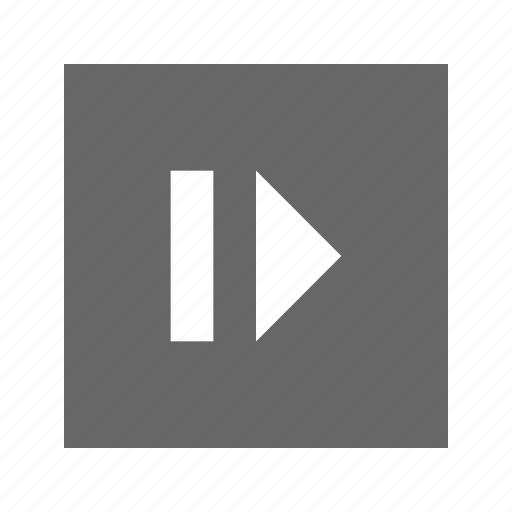 eject, right, solid, square icon