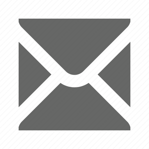 email, solid, square icon