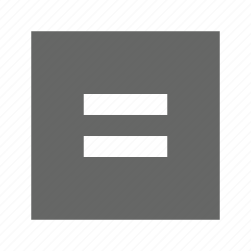 equal, solid, square icon