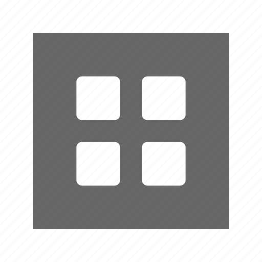 grid, solid, square icon