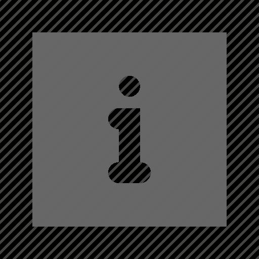 info, solid, square icon