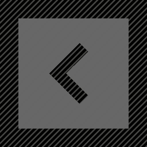 left, solid, square icon