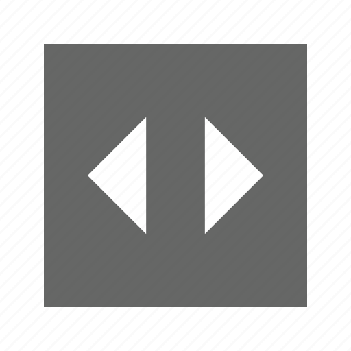 left, right, solid, square icon