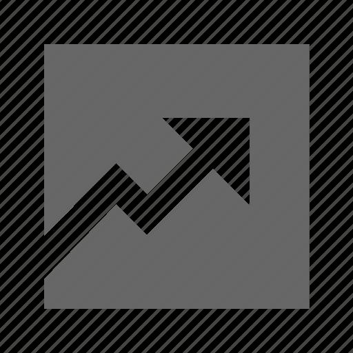 graph, line, solid, square icon