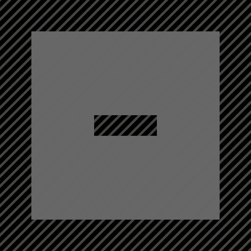 minus, solid, square icon