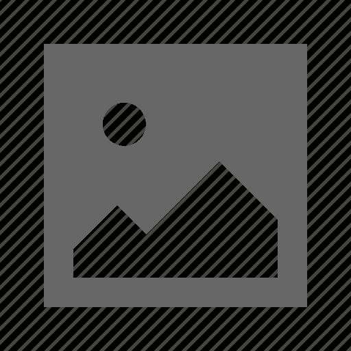 photo, solid, square icon