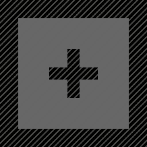 plus, solid, square icon