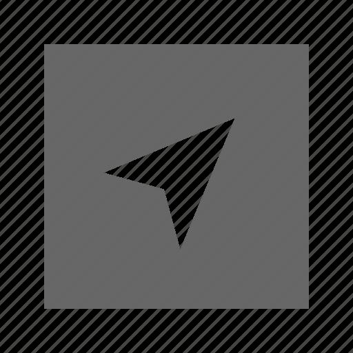 pointer, solid, square icon