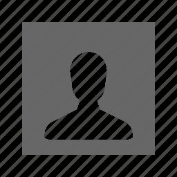 profile, solid, square icon