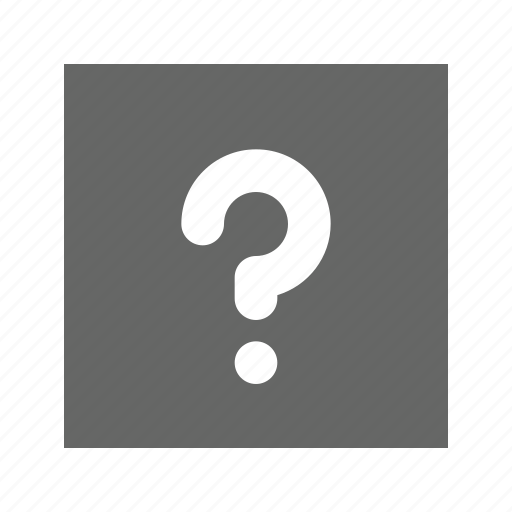 question, solid, square icon