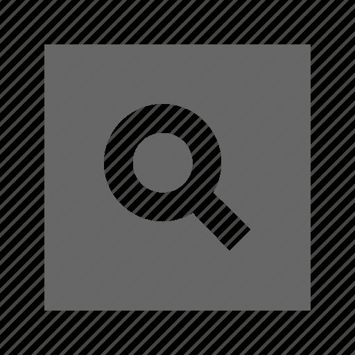 search, solid, square icon