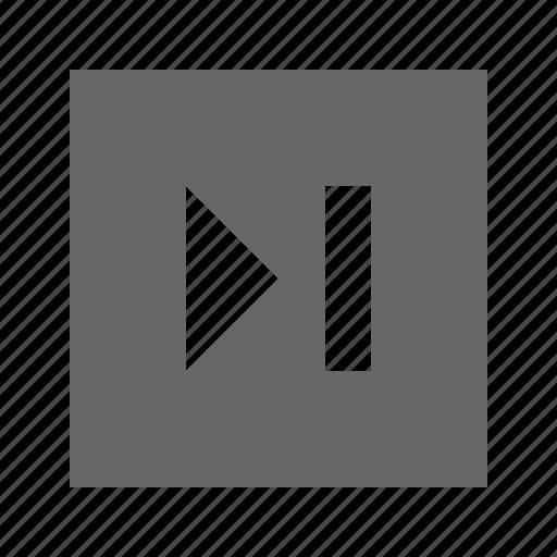 next, skip, solid, square icon