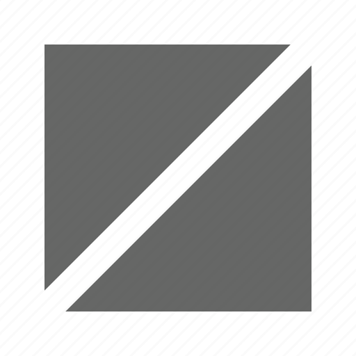 full, slash, solid, square icon
