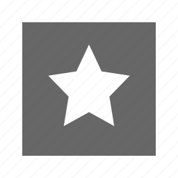 solid, square, star icon