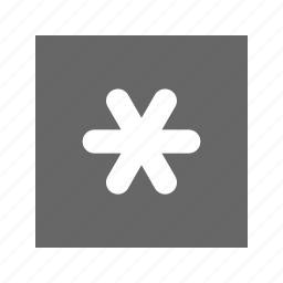 solid, square, star icon