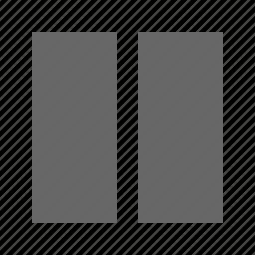 columns, solid, square, table icon