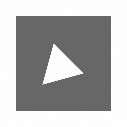 alt, bottom, left, solid, square, triangle icon