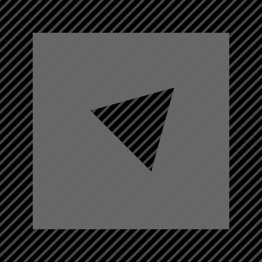 alt, right, solid, square, top, triangle icon