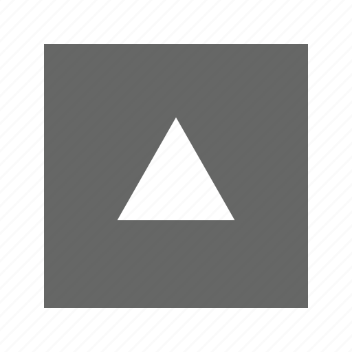alt, solid, square, triangle, up icon