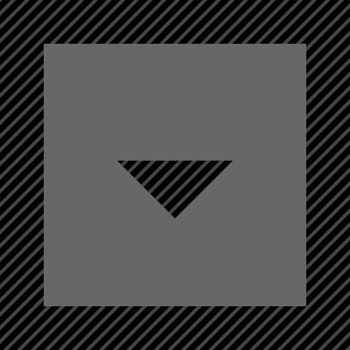 down, solid, square, triangle icon