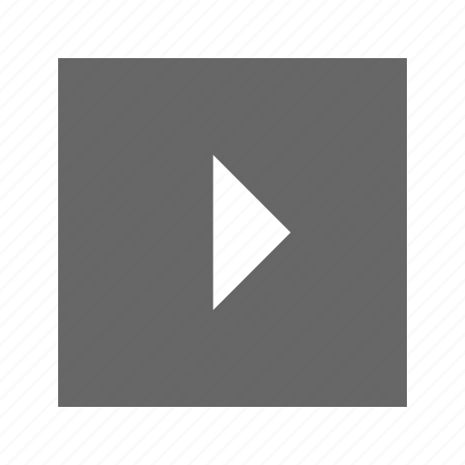 right, solid, square, triangle icon