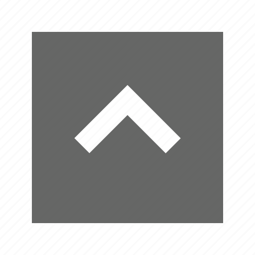 solid, square, up icon