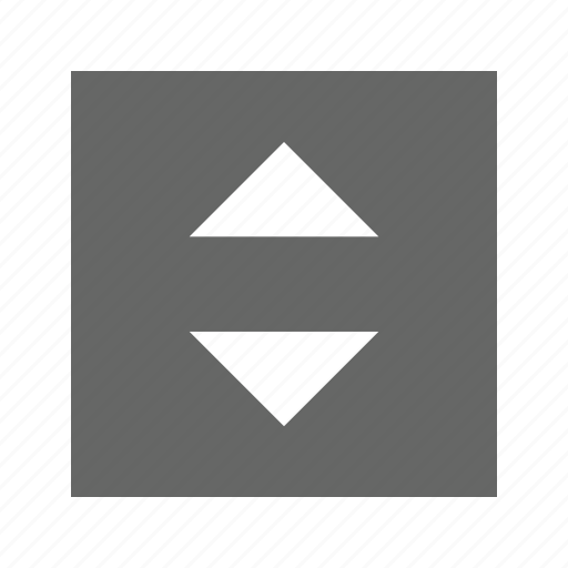 down, solid, square, up icon