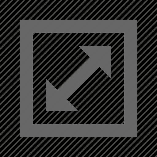 arrow, corners, expand, fullscreen, maximize, stretch icon