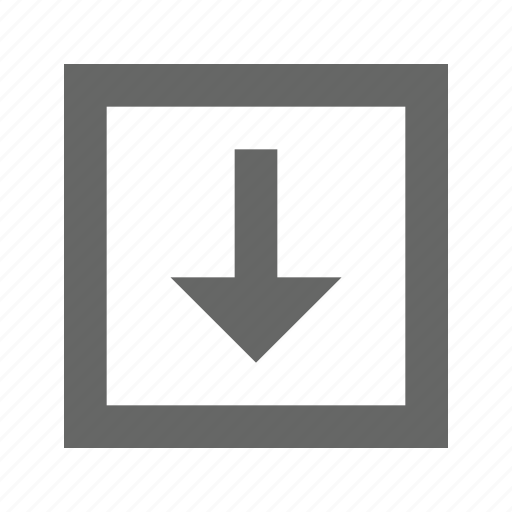 arrow, bottom, down, download, save icon
