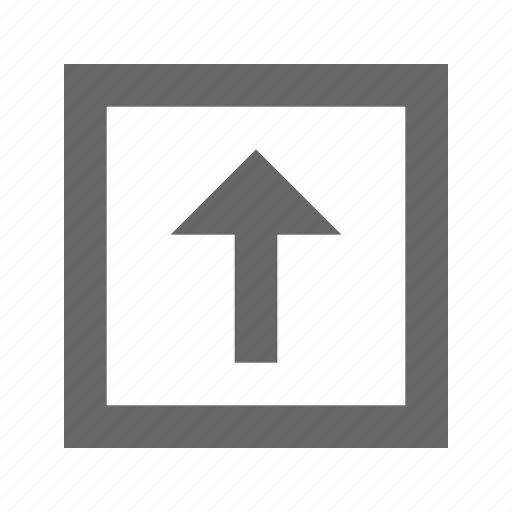 arrow, direction, north, top, up, upload icon