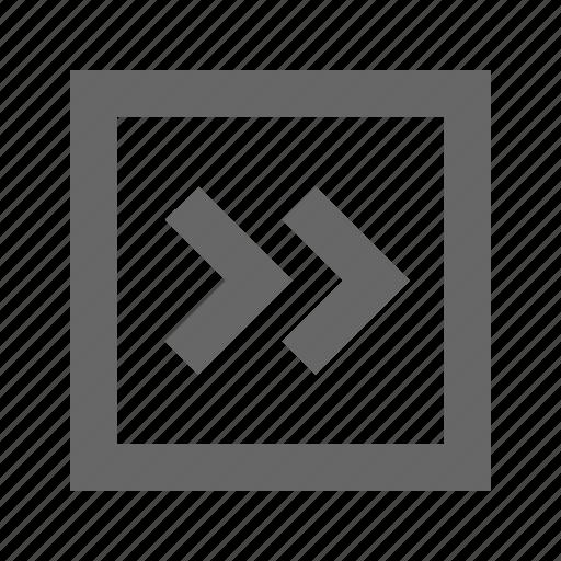 chevron, right, square icon