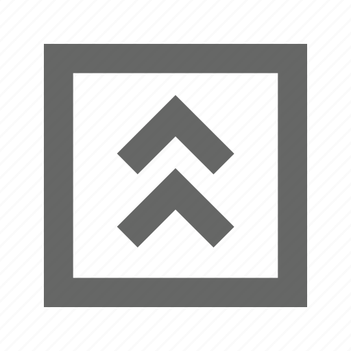 chevron, square, up icon