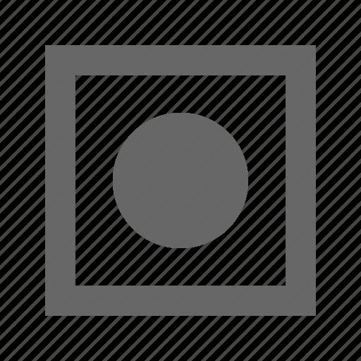 circle, media, multimedia, record icon
