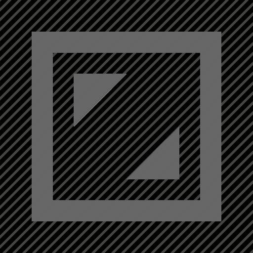 corners, square icon