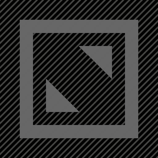 alt, corners, square icon