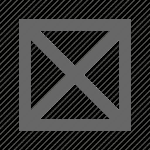 alert, broken, cross, error, missing, warning icon