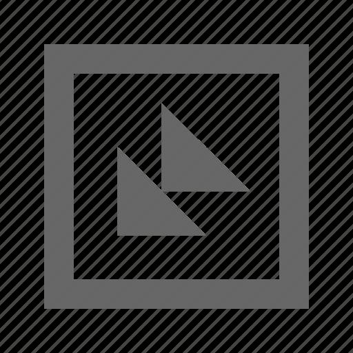 bottom, double, left, square, triangle icon