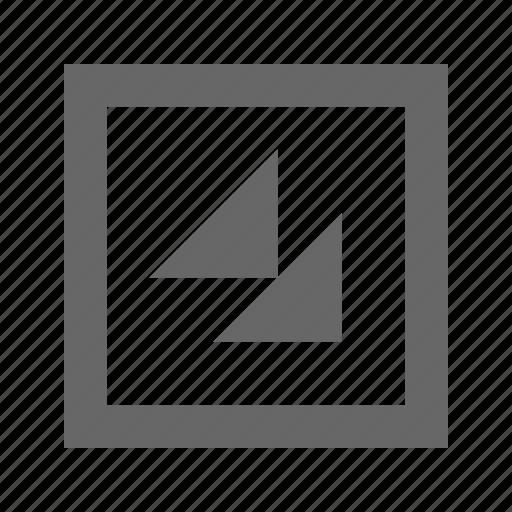 bottom, double, right, square, triangle icon