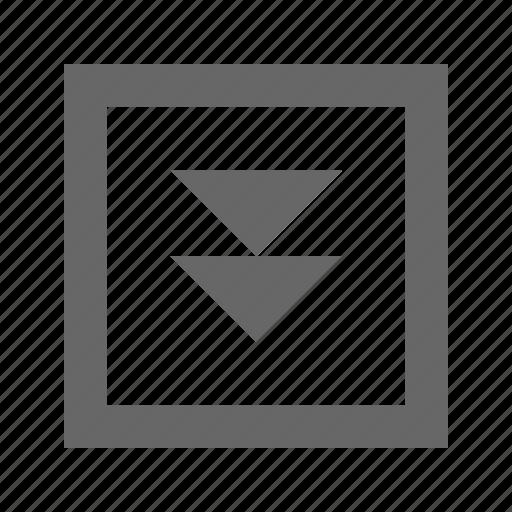 double, down, square, triangle icon