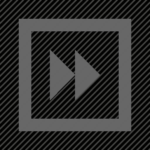 double triangle, fast forward, forward, media, multimedia, next, right icon