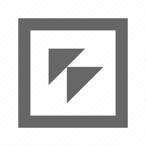 double, left, square, top, triangle icon
