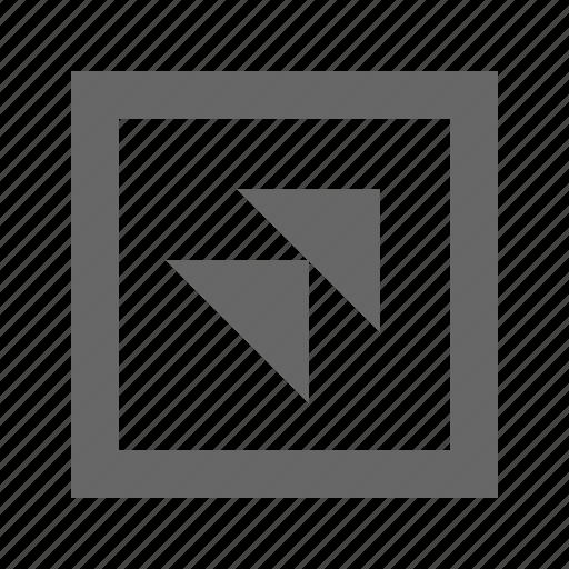 double, right, square, top, triangle icon