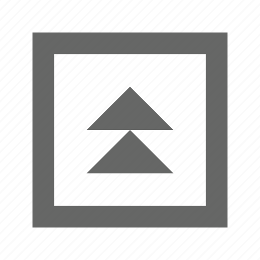 double, square, triangle, up icon