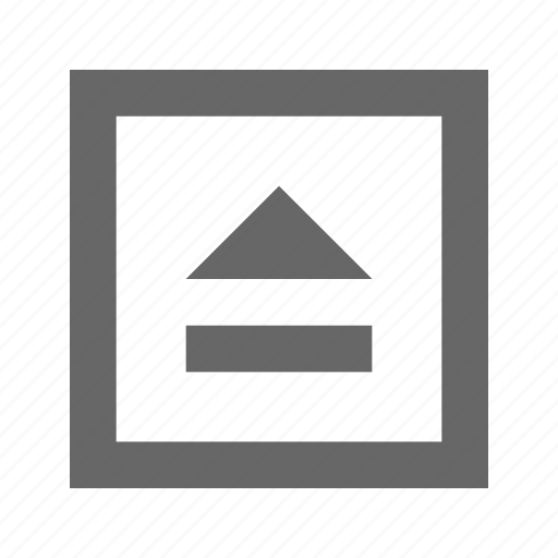 eject, square icon