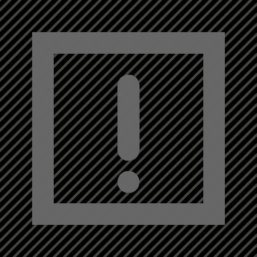 alert, caution, danger, error, exclamation, problem, warning icon