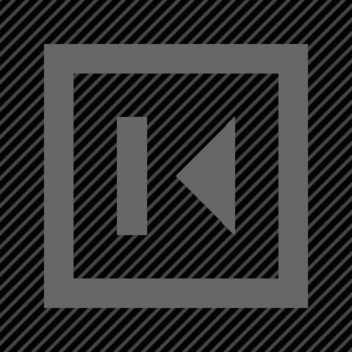 back, left, media, multimedia, previous, rewind, skip icon