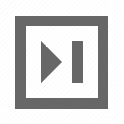 next, skip, square icon