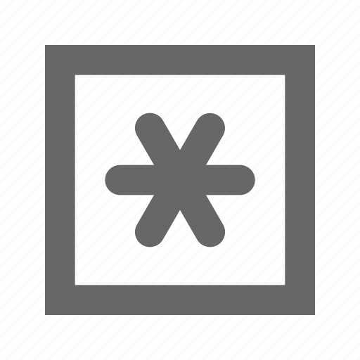 flower, star, text icon