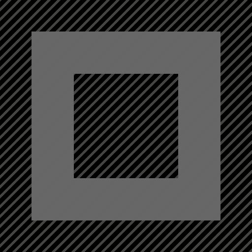 checkboc, square icon